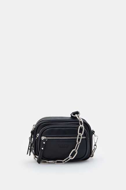 Mohito -  Shoulder Bag With Chain Strap - Black
