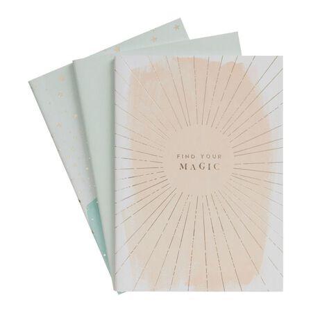 KIKKI.K - kikki.K A5 Stitch Notebooks 3Pk She Shines Multi-Color