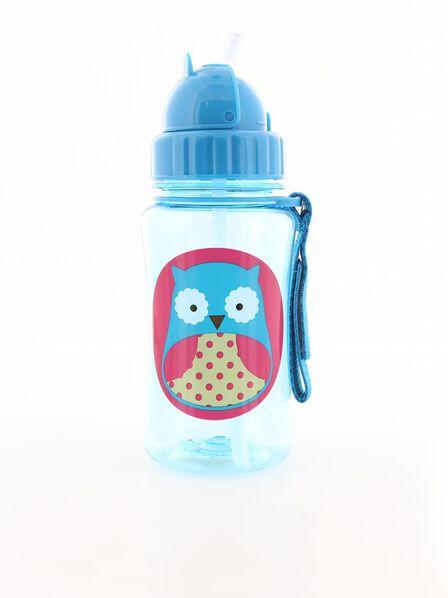 SKIP HOP - Skip Hop Zoo Straw Kids Water Bottle Owl 350ml