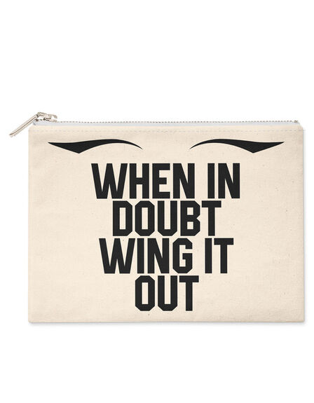 SAVE THE PEOPLE - Savethepeople When In Doubt Wing It Out Make-Up Bag