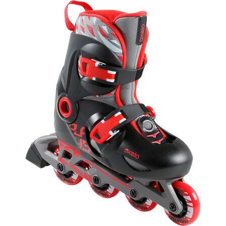 OXELO - EU 34-36  Play 5 Kids' Inline Skates, Scarlet Red