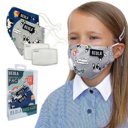 BEOLA - Beola Jane Kids' Fashion Mask Set Of 2