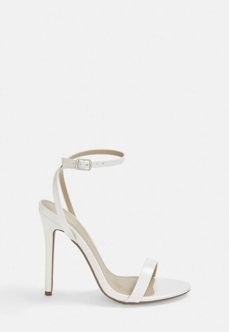 Missguided - White White Barely There Heels