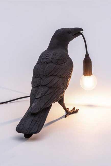 Seletti - Bird Lamp Waiting Black