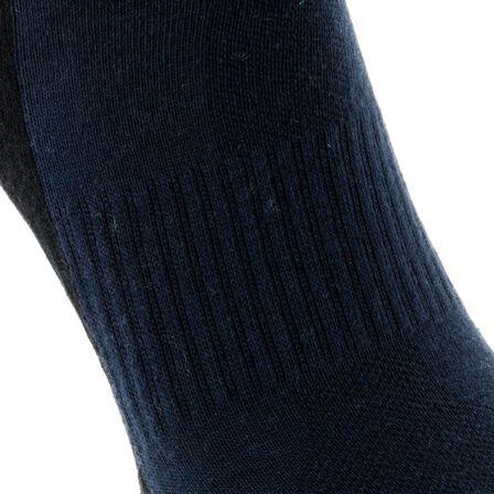 QUECHUA - NH100 Country Walking Socks Mid x 2 Pairs - Navy Blue, EU 39-42