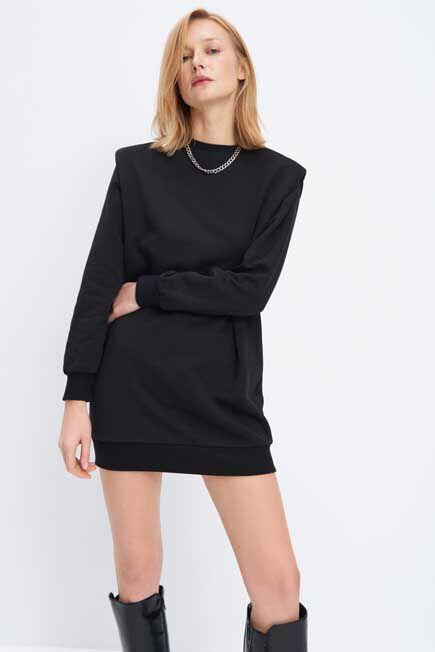 Mohito -  Knit Mini Dress - Black