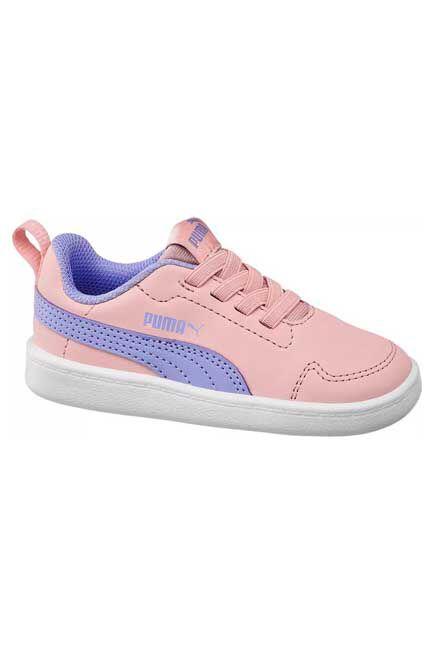 Puma - Peach Courtflex Sneakers, Kids
