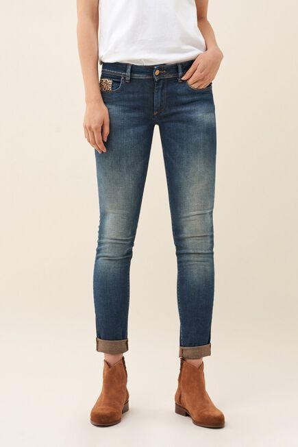 Salsa Jeans - Blue Push Up Wonder slim animal print jeans