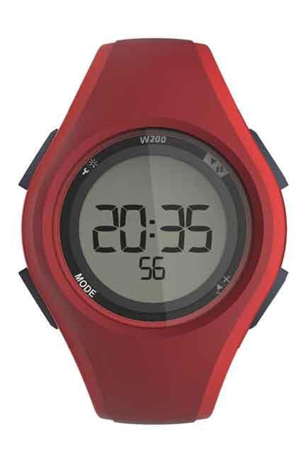 KIPRUN - W200 M men's running stopwatch red, Adult