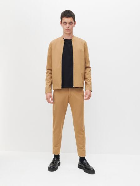 Reserved - Men's Carrot Slim Trousers - Beige