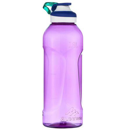 QUECHUA - Unique Size  Hiking water bottle 500 fast opening cap 0.8 litre Tritan plastic, Violet