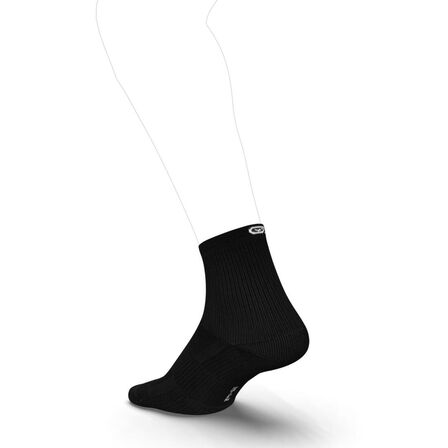 KIPRUN - EU 39-42 Running Comfortable Mid-Height Socks 2-Pack - Black