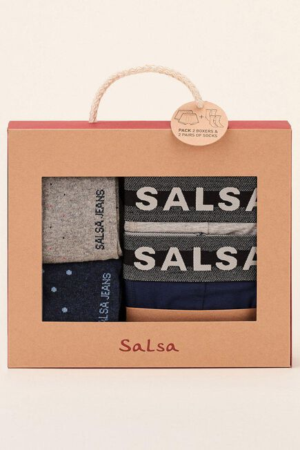 Salsa Jeans - Blue Pack 2 boxers and 2 socks