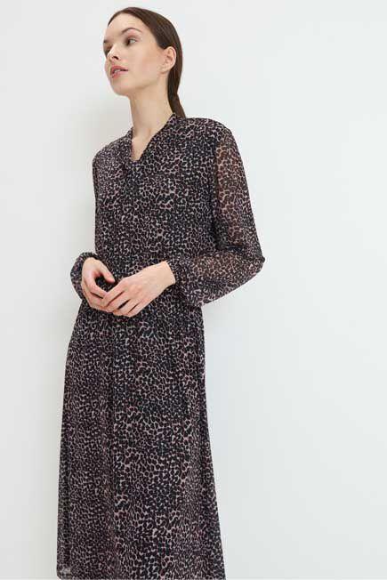 Mohito -  Midi Dress In Print - Brown