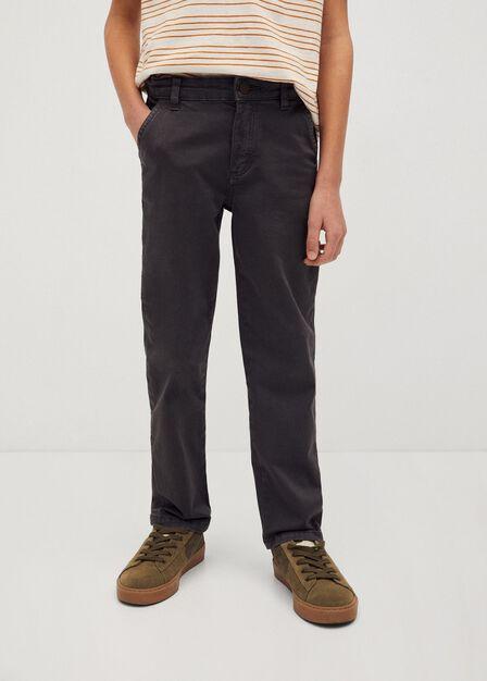 Mango - grey Cotton cargo trousers