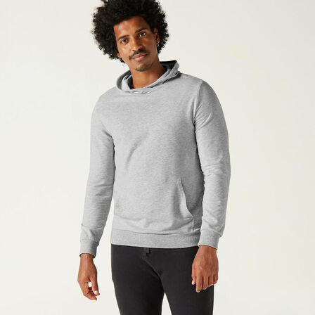 DOMYOS - Extra Large  Men's Gym Hoodie 500 - Grey Marl, Light Grey