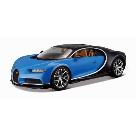 BBURAGO - BBurago0 Bugatti Chiron Blue/Black 1/18 Scale Model Car