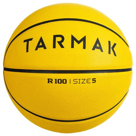 TARMAK - Size 5 Beginners' (Up To 10Y Old) Basketball R100 - Fluo Yellow