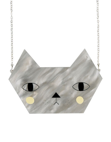 LITTLE MOOSE - Little Moose Faces Large Cat Necklace