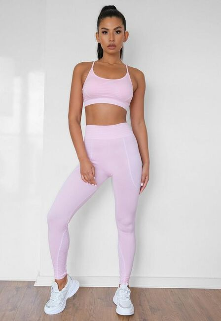 Missguided - Pink Seamless Missguided Highwaisted Gym Leggings