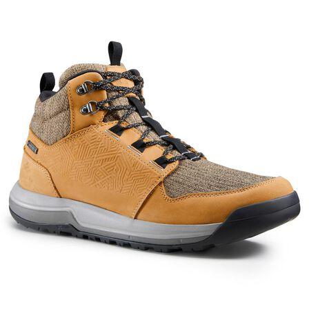 QUECHUA - EU 43  Men's waterproof off-road hiking shoes NH500 Mid WP, Cinnamon