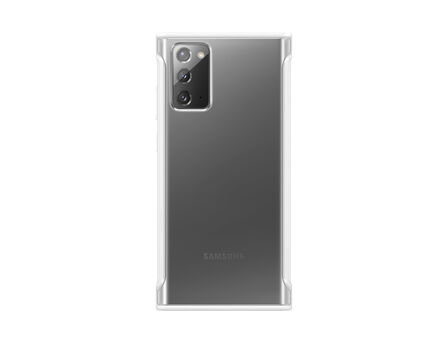 SAMSUNG - Samsung Clear Protective Cover White for Galaxy Note20
