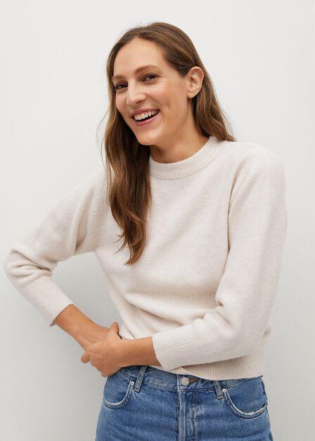Mango - lt pastel grey Crossed back sweater