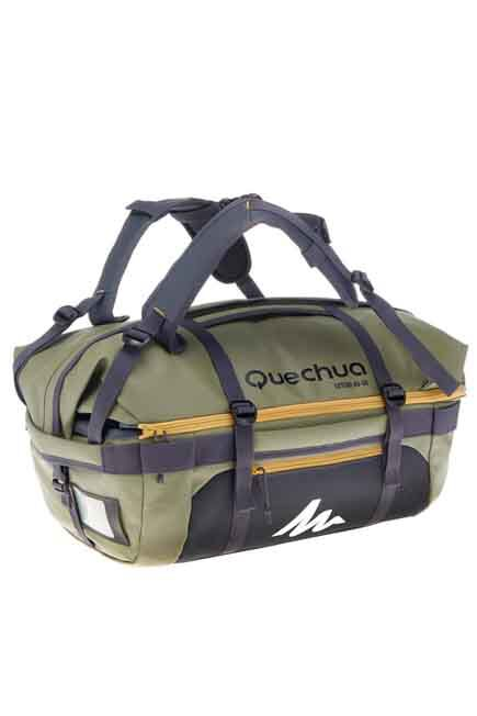 FORCLAZ - Voyage Extend 40 to 60 Litre Trekking Bag - Khaki, 40L