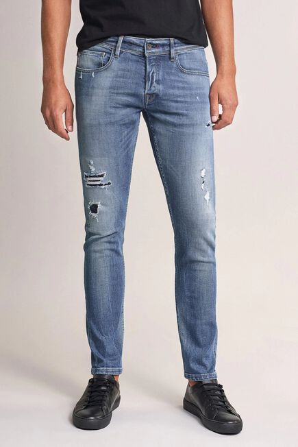 Salsa Jeans - Blue Clash skinny premium wash jeans with wear effect