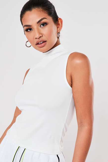 Missguided - RIB SLEEVELESS TURTL
