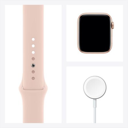 APPLE - Apple Watch Series 6 GPS + Cellular 40mm Gold Aluminium Case with Pink Sand Sport Band