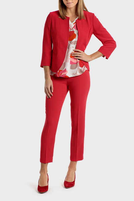 Punt Roma - Red crepe trousers