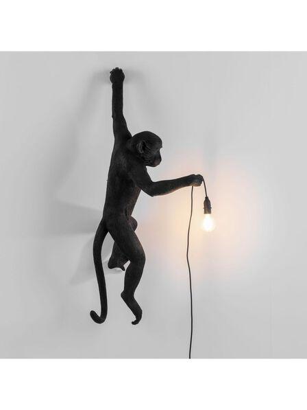 Seletti - Monkey Lamp Hanging Left Hand Black Outdoor