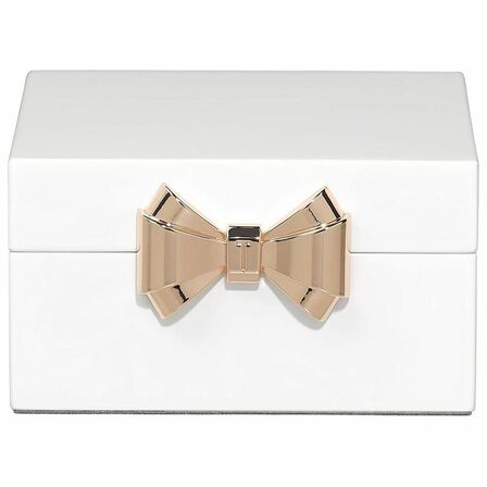 TED BAKER - Ted Lacquer Small White Jewellery Box