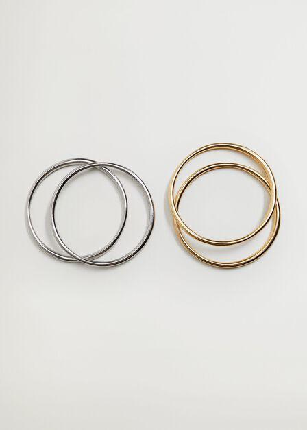 Mango - Gold Combined Hoop Bracelets