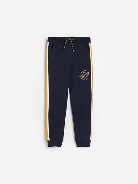 Reserved - Navy Sweatpants With Side Stripes, Kids Boy