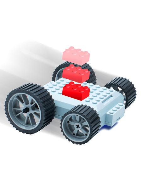 MEEPER - meeperBOT 2.0 Grey + meeperBOT 2.0 Wheel Pack Neon Green