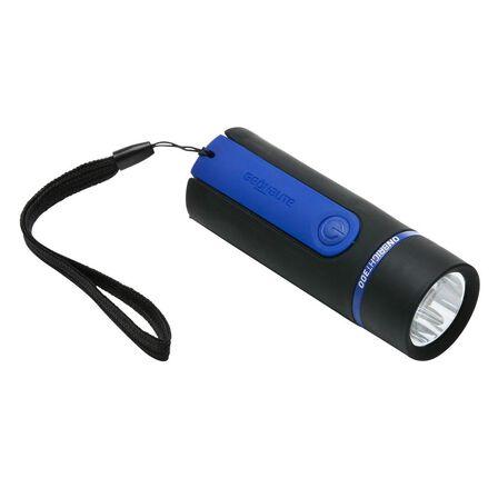 FORCLAZ - Unique Size  Bivouac battery-powered torchlight - ONBRIGHT 300 Rubber Blue - 30 Lumens, Black