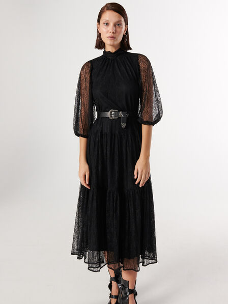 Reserved - Black Lace Dress, Women