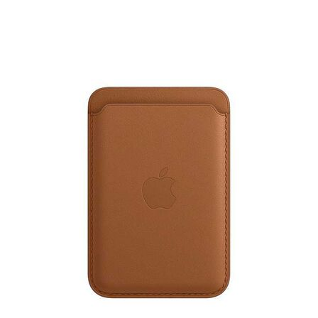 APPLE - Apple Leather Wallet Saddle Brown with MagSafe for iPhone
