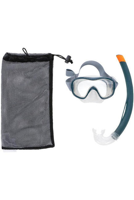 SUBEA - Snk 500 adult and junior mask and snorkel snorkelling set - grey, S