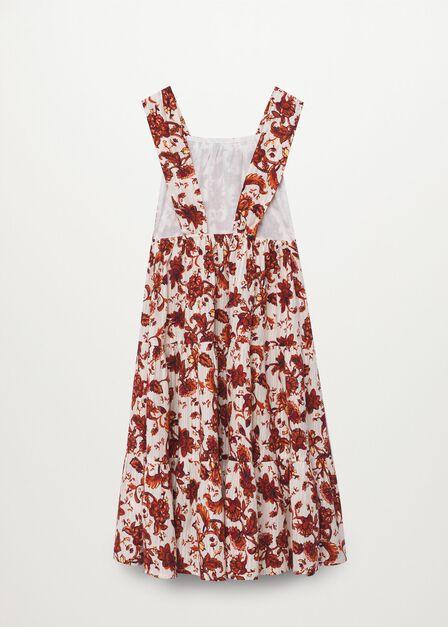 Mango - natural white Printed cotton dress, Kids Girl