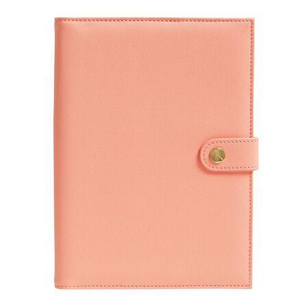 KIKKI.K - kikki.K A5 Leather Notebook Holder Luxury Coral