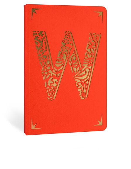 PORTICO DESIGN LTD - Portico Design W Monogram Red A6 Notebook