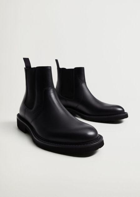 Mango - Black Volume Sole Chelsea Boots