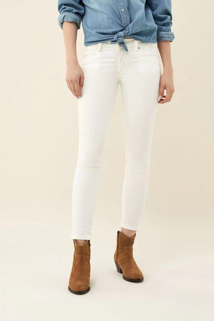 Salsa Jeans - Beige Push Up Wonder capri jeans with detail on belt
