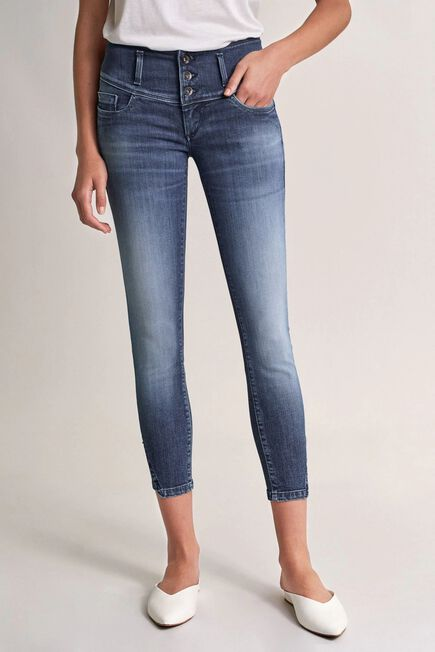 Salsa Jeans - Blue Mystery Push Up cropped jeans with Swarovski crystals
