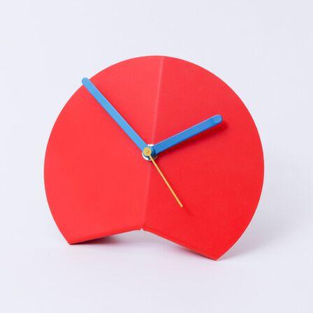 BLOCK - Block Origami Desk Clock Red