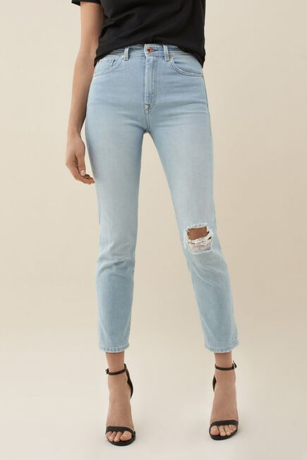 Salsa Jeans - Blue Cropped ripped Elegant jeans