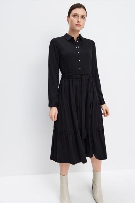 Mohito -  Viscose Midi Dress - Black